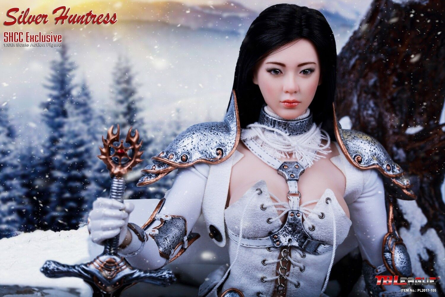 Phicen//TBLeague Hot Silver Huntress Metal Sword for 1//6 12 in scale Toys