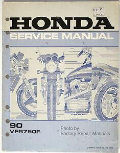 1990 Honda Vfr750f Factory Service Manual Vfr 750 F Rc36 Motorcycle