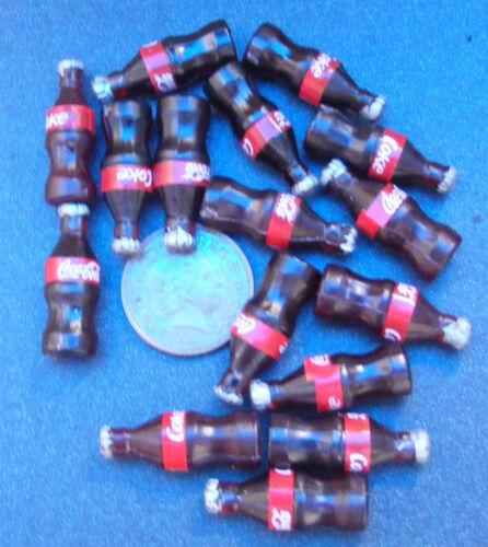 1:12 Scale 6 Small Coke Bottles Tumdee Dolls House Pub Bar Cafe Shop Cola Drink