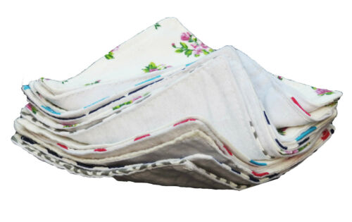 10 Double Layer Cotton Flannel New born baby girl boy burp Cloth Diaper Wipes