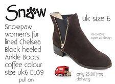 Snowpaw Donna Qualità Alla Caviglia Pelliccia con Boot Taglia 6 NUOVO in scatola solo 25.00 GRATIS