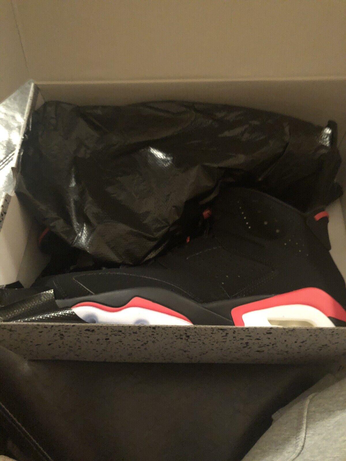"Nike Air Jordan Retro 6 Size 11 ""Black Infrared"""