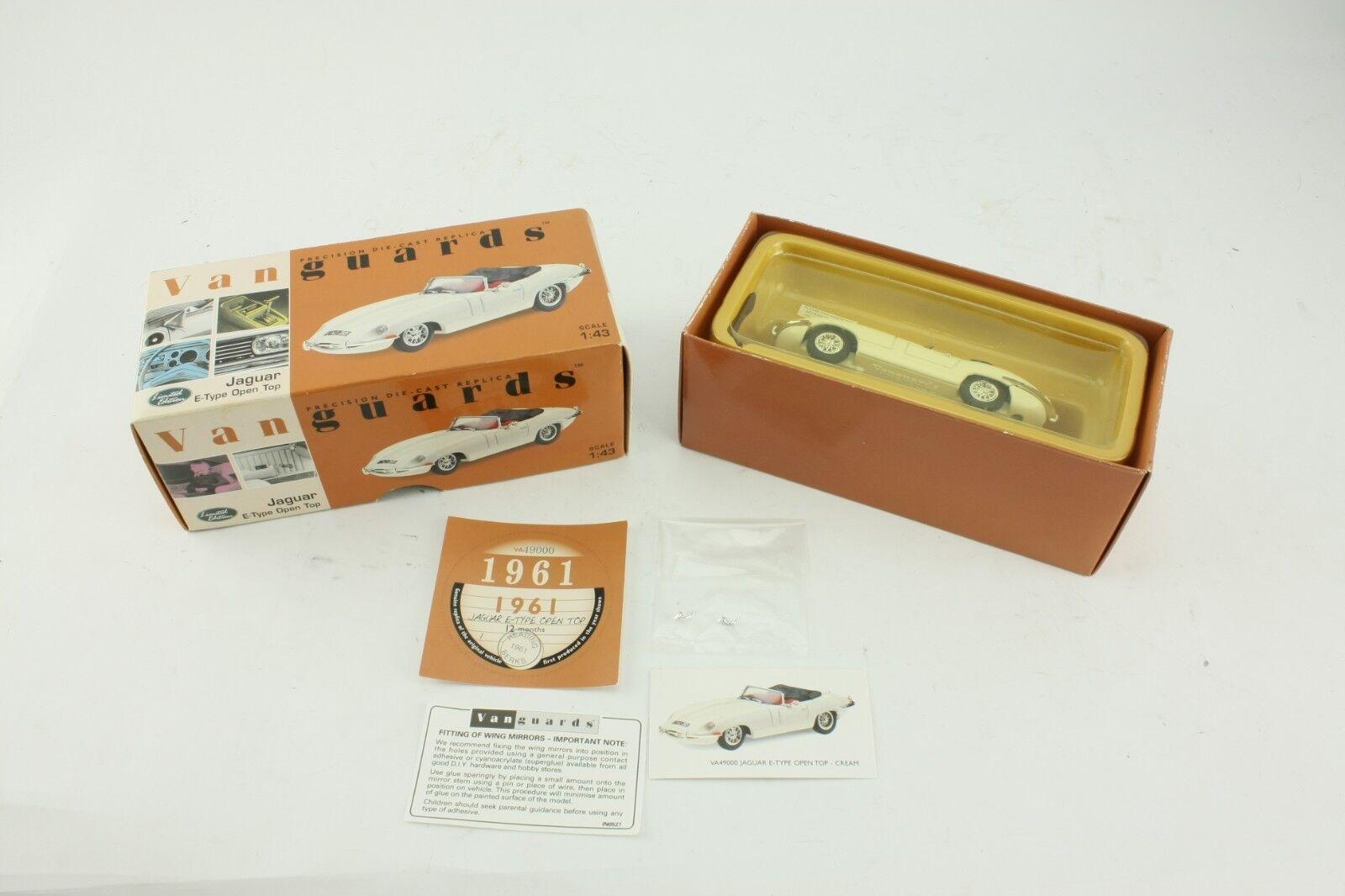 Vanguards 1 43 1 43 Scale Jaguar E Type Open Top Cream Model Classic