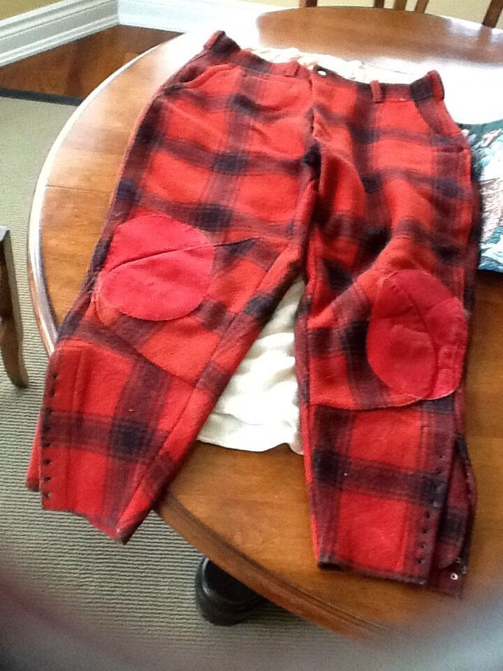 Vintage MONTGOMERY WARD's WESTERN FIELD Buffalo Red Plaid   Wool Hunting Pants  new branded