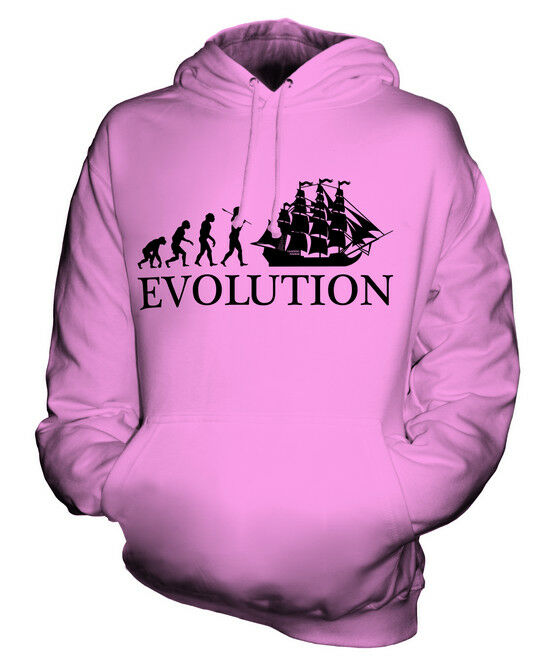 FRIGATE EVOLUTION OF MAN UNISEX HOODIE TOP GIFT BOAT SHIP
