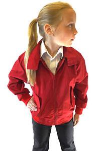 d173dc04b New Boys Girls Kids Harrington Bomber Jacket Red 2 3 4 5 6 7 8 9 10 ...