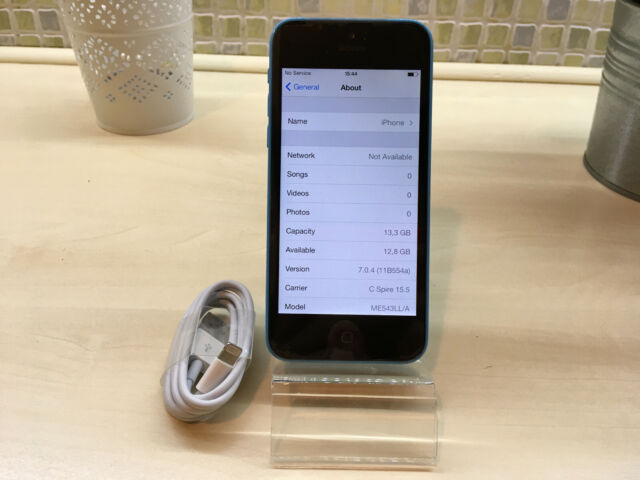 *RARE* Apple iPhone 5c - iOS 7.0.4 - 16GB - Blue (Unlocked) A1456 (CDMA + GSM)
