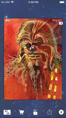 Topps Star Wars Digital Card Trader Red Journey Ahsoka Tano Signature Insert