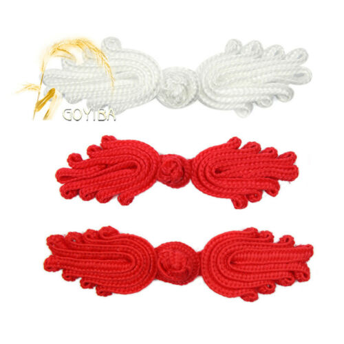 5 Pair Handmade Solid Classical Chinese Frog Closure Knot Button Ribbon Fastener