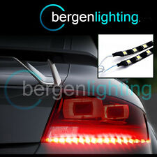 2X 500MM RED STICK ON REAR BRAKE /FOG LIGHT 12V SMD5050 DRL MOOD LIGHTING STRIPS