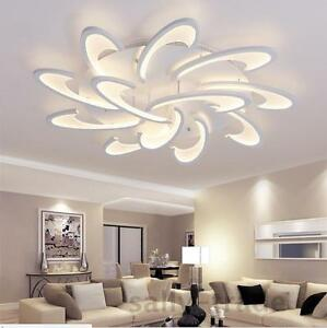 Details About Modern Led White Acrylic Ceiling Lights For Living Room Bedroom Chandelier Lamp