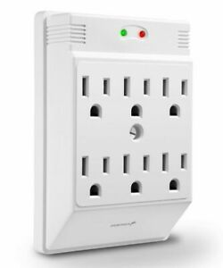 Fosmon C10688a 6 Outlet 700 J Wall Tap Mount Surge Protector