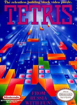 80/'s Vintage Eighties Poster TETRIS Poster 24 inch X 36 inch 01