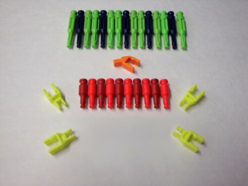 MICRO KNEX Transition Rods And Connectors Red Neon Green Purple Parts//Pieces Lot