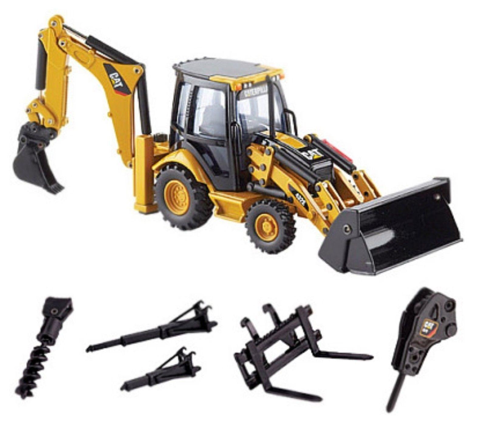 Norscot 55149 Caterpillar CAT 432E déplacement latéral tracto pelle avec outils de travail échelle 1 50