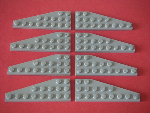 Light Bluish Gray Wedge plates NEW REF 50304 50305 Lego 8 Ailes gris clair 8x3
