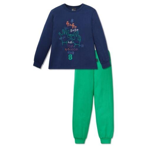 """Schiesser garçons longue pyjama 2tlg bleu sarcelle /""""Otto apprend à lire/"""" taille 104-128"""