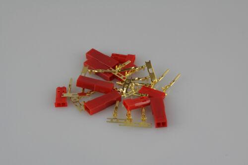 Boîtier rc modélisme 5x paire yuki MODEL goldkontakt bec douilles /& connecteur