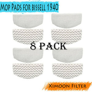 8x-Washable-Mop-Pads-Replacement-For-Bissell-5938-203-2633-1606668-1940-Series