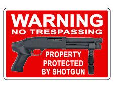 No Trespassing Firearm Shotgun Sign Durable Aluminum No Rust Full Color Sign 140