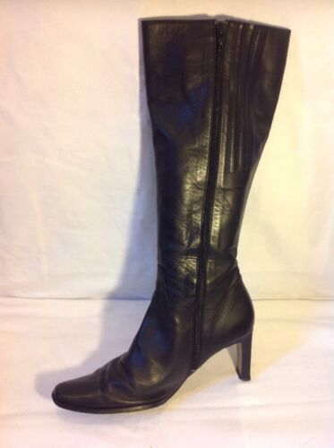 Size Duo Black Boots Leather 39d Knee High qzzdwRXr