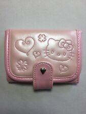Rare Sanrio 2007 Vinyl Hello Kitty Wallet With Heart Snap Closure