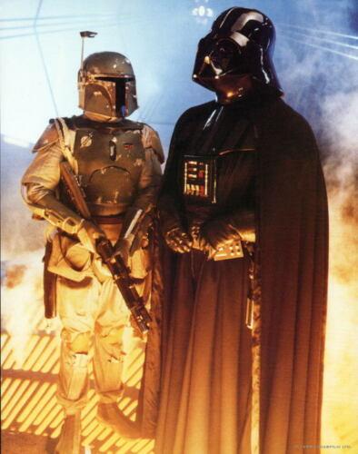 STAR WARS TRILOGY Print - DARTH VADER & BOBA FETT 11x14 Zanart 1994