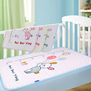Baby Bedding Baby Mattresses For Girls Boys Cartoon Cotton Soft Cute Urine Pad Infant Diaper Waterproof Bedding Changing Cover Pad 2pcs