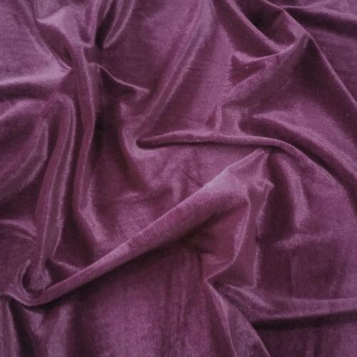 """Premium Super Soft Velour Velvet Fabric Craft Dress Material 150cm 59/"""" Width"""