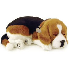 NEW Perfect Petzzz Beagle Breathing Puppy Dog Plush Set w/Carrier, Bed, Brush