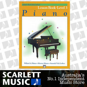 Details about ABPL Alfred's Basic Piano Library Lesson Book Alfreds Level 3  ( Three / Third )