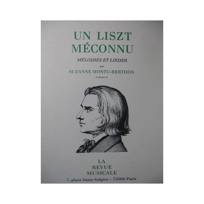 Montu-Bell Suzanne ein Liszt missverstanden Volumen 1 1981 Partitur sheet music