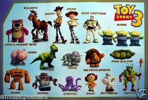 DISNEY/PIXAR U0026quot;TOY STORY 3u0026quot; POSTER - Cast Of Characters With Their Names By Them | EBay