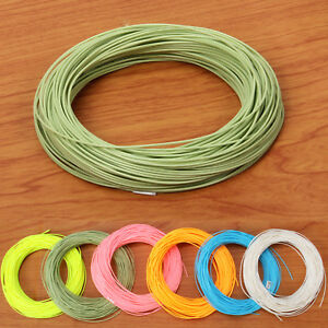 WF1-2-3-4-5-6-7-8-9F-Fly-Line-Green-Yellow-Pink-Orange-Blue-Fly-Fishing-Line
