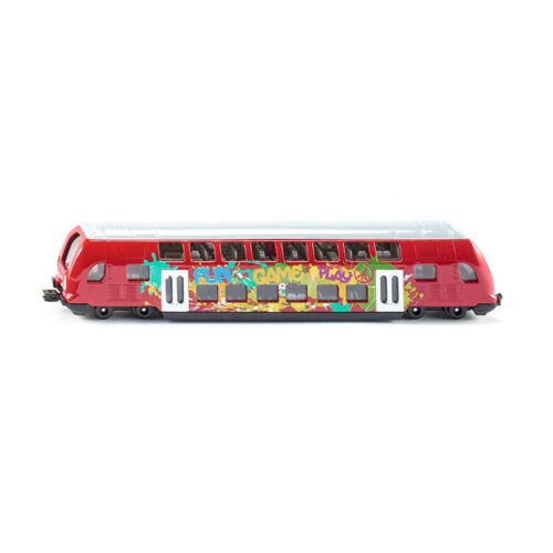 Siku 1791 Doppelstock-Zug rot Maßstab 1:87 NEU!°