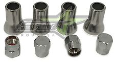 TPMS TIRE VALVE STEM CAP WITH SLEEVE COVER CHROME | AMERICAN CARS AND TRUCKS