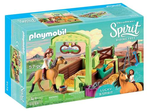 Playmobil 9478 Spirit riding free Lucky & Spirit Pferdebox NEU OVP