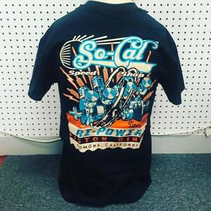 So-Cal-t-shirt-re-power-BLACK-sz-XXL-rear-print-hot-rod-32-ford-chev