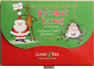 Leanin-Tree-Christmas-20-Card-Box-Set-REINDEER-GAMES