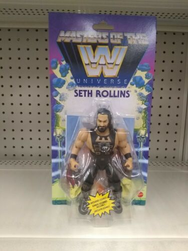 WWE maîtres de la WWE univers Seth Rollins action figure dans la main Walmart