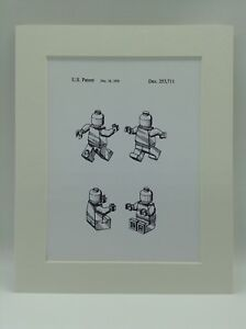 Details about Vintage Patent Print Drawing Lego Man Figure 1979 Display 10  X 8