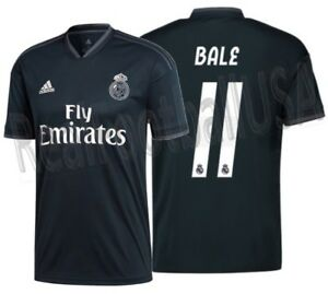 Image is loading ADIDAS-GARETH-BALE-REAL-MADRID-AWAY-JERSEY-2018- dc8d4bcba