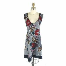 L - Maeve Anthropologie Stunning FAIRCHILD Floral Print OPen Back Dress 1008CR