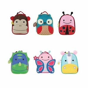 Skip-Hop-School-Nursery-Insulated-Lunch-Bag-Kids-Children-Animal-Zoo-Back-Pack