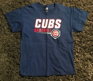 af415e69 MLB Genuine Merchandise Baseball Chicago Cubs Blue T-Shirt Mens Sz L ...