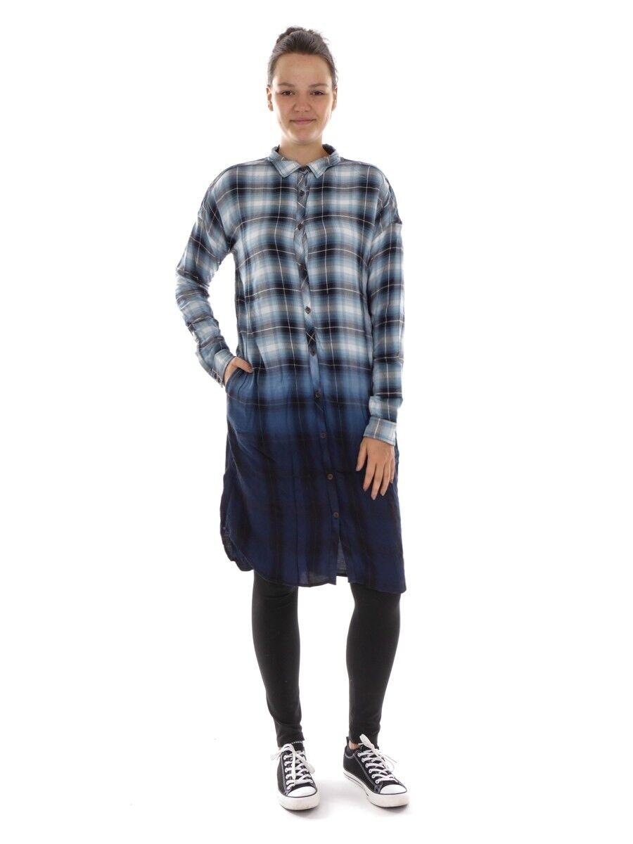 O'Neill Kleid Karokleid Freizeitkleid blue Crystal Bay Kentkragen