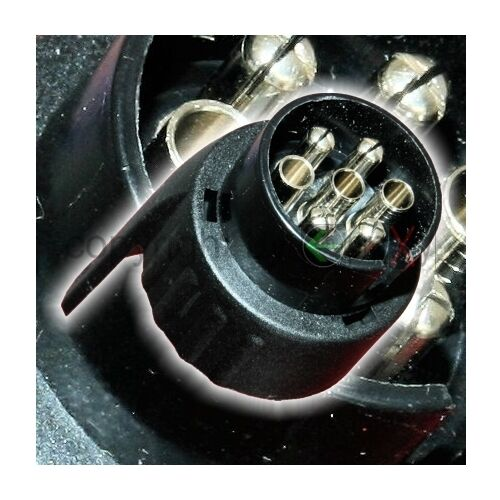 1x Trailer Adapter 7pol Auto auf 13pol Anhänger AHK 7-13 12V Stecker Schwarz NEU