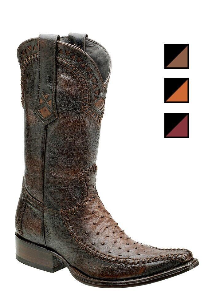 Herren Cowboystiefel Westernstiefel Straußenleder Cuadra (handgefertigt) 1B27A1