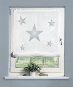 digitaldruck bedrucktes raffrollo 60 80 100x140 rollo sterne stars blau easyfix ebay. Black Bedroom Furniture Sets. Home Design Ideas