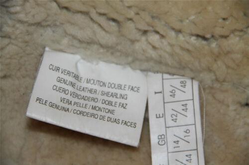 44 Mixte 42 Pour Retourné Bombardier Mouton T Homme M Original Femme Shearling SIqzBx6